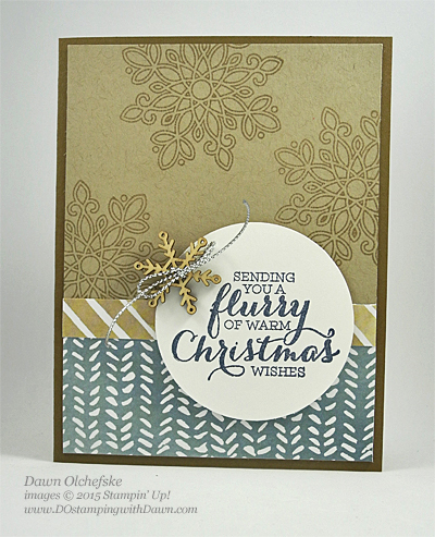 Flurry of Wishes card by Dawn Olchefske #dostamping #stampinup