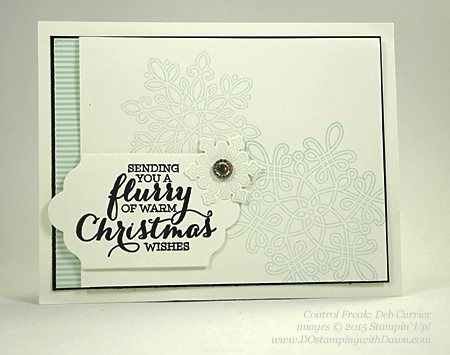 Flurry of Wishes swap cards shared by Dawn Olchefske #dostamping #stampinup (Deb Currier)