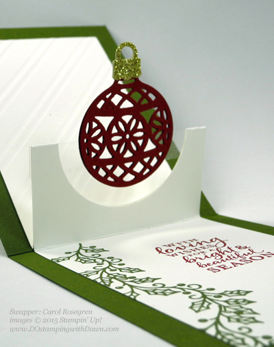 Embellished Ornament Bundle samples shared by Dawn Olchefske #dostamping #stampinup (Carol Rosengren)
