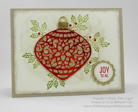 Embellished Ornament Bundle samples shared by Dawn Olchefske #dostamping #stampinup (Kim Vogel)
