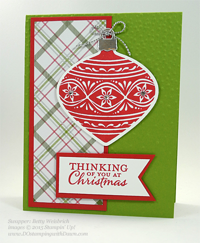 Embellished Ornament Bundle samples shared by Dawn Olchefske #dostamping #stampinup (Betty Weisbrich)