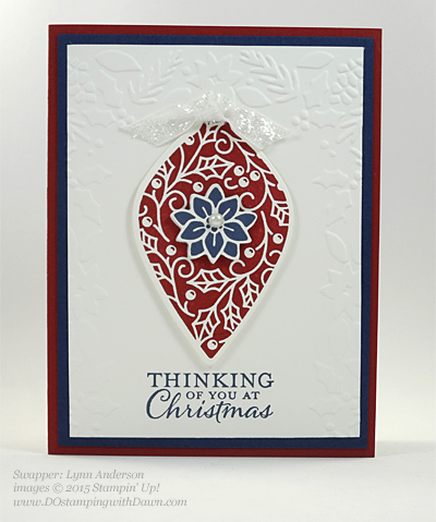 Embellished Ornament Bundle samples shared by Dawn Olchefske #dostamping #stampinup (Lynn Anderson)