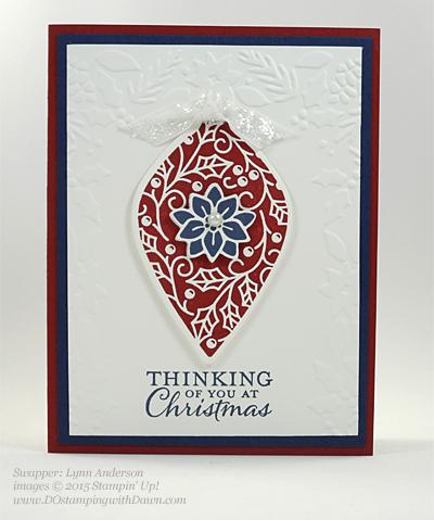 Embellished Ornament Bundle samples shared by Dawn Olchefske #dostamping #stampinup (Lynn Anderson)