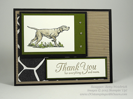 Wilderness Awaits card shared by Dawn Olchefske #dostamping #stampinup (Betty Weisbrich)