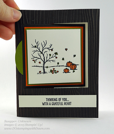Happy Scenes swap card shared by Dawn Olchefske #dostamping #stampinup