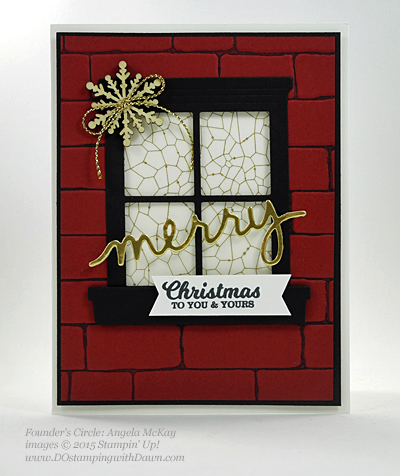 To You & Yours, Hearth & Home Thinlits swap card shared by Dawn Olchefske #dostamping #stampinup (Angela McKay)
