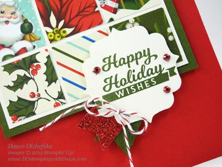Home for Christmas quilt card create by Dawn Olchefske for DOstamperSTARS Thursday Challenge #DSC161 #dostamping #stampinup