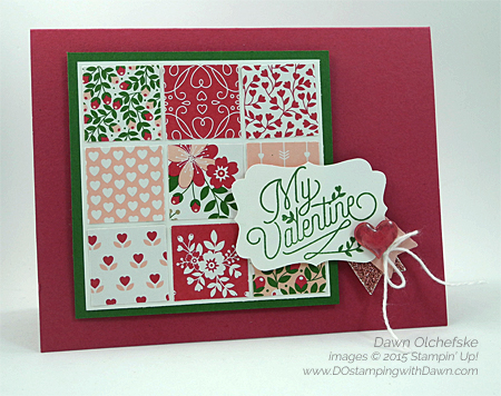 NEW Love Blossoms Quilt Card created by Dawn Olchefske for Control Freaks Tour  #dostamping #stampinup