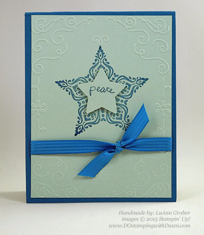Handmade Christmas cards shared by Dawn Olchefske #dostamping #stampinup (LuAnn Graber)