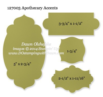 Apothecary Accent Framelit Sizes shared by Dawn Olchefske #dostamping #stampinup