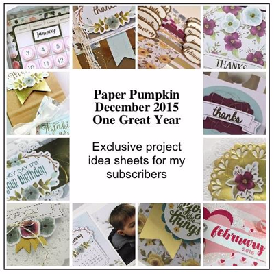 December 2015 One Great Year Paper Pumpkin alternate ideas by Dawn Olchefske  #dostamping #stampinup