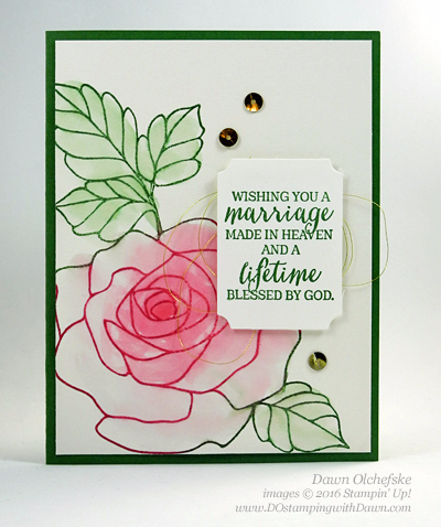 Rose Wonder Watercolor Wash card created by Dawn Olchefske #dostamping #stampinup