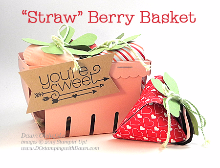 Berry Basket Shared by Dawn Olchefske #dostamping #stampinup