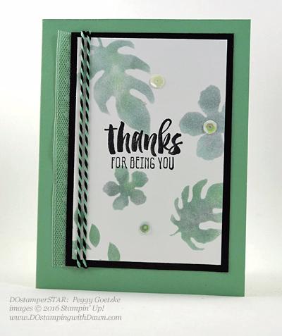 Botanical Gardens Bundle swap cards Shared by Dawn Olchefske #dostamping #stampinup (Peggy Goetzke)
