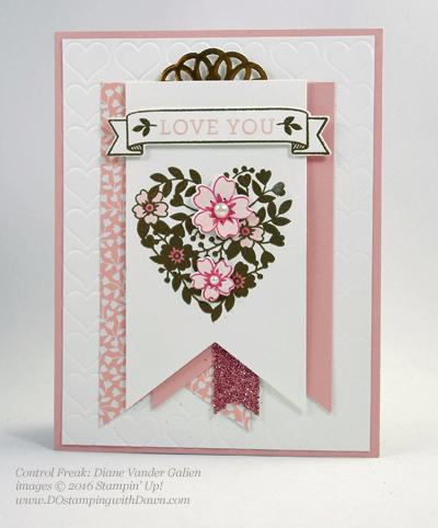 Bloomin' Love Swap Card Shared by Dawn Olchefske #dostamping #stampinup Diane Vander Galien