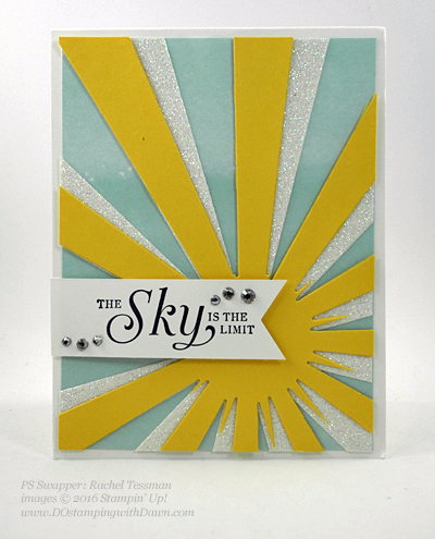 Sky is the Limit Sale-a-Bration card swap shared by Dawn Olchefske #dostamping #stampinup (Rachel Tessman)