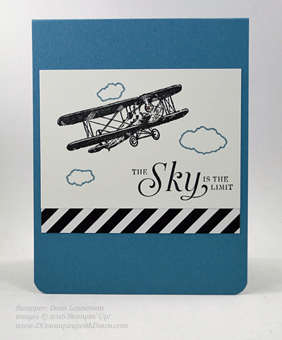 Sky is the Limit Sale-a-Bration card swap shared by Dawn Olchefske #dostamping #stampinup (Dena Lenneman)