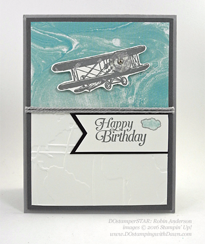 Sky is the Limit Sale-a-Bration card swap shared by Dawn Olchefske #dostamping #stampinup (Robin Anderson)