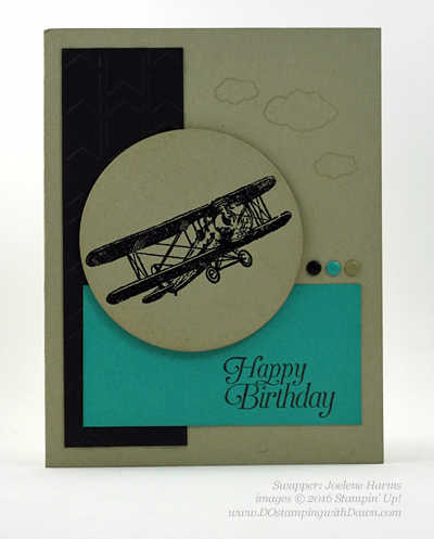 Sky is the Limit Sale-a-Bration card swap shared by Dawn Olchefske #dostamping #stampinup (Jolene Harms)