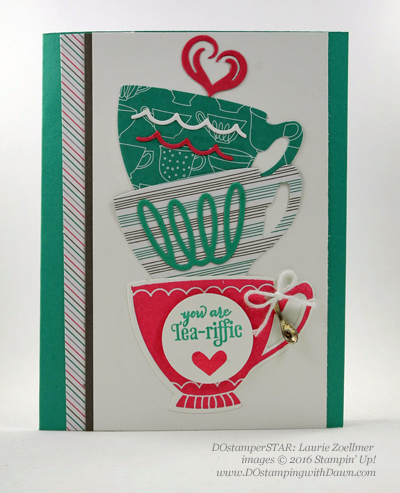 A Nice Cuppa card by Laurie Zoellmer shared by Dawn Olchefske #dostamping #stampinup