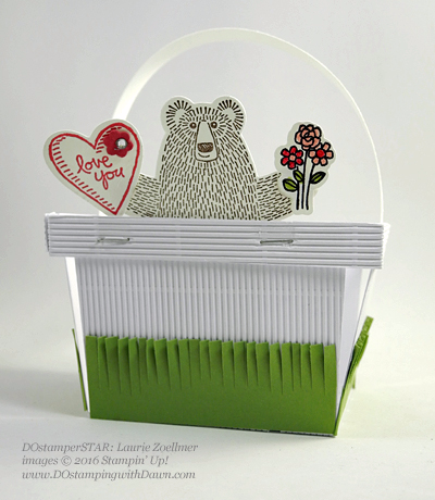 Bear Hugs Berry Basket by Laurie Zoellmer shared by Dawn Olchefske #dostamping #stampinup