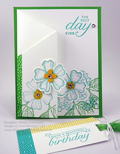Birthday Blossom & Pansy Punch card swaps shared by Dawn Olchefske #dostamping #stampinup (Denise Jorgensen)