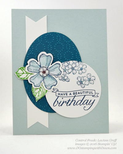 Birthday Blossom & Pansy Punch card swaps shared by Dawn Olchefske #dostamping #stampinup (LeeAnn Greff)