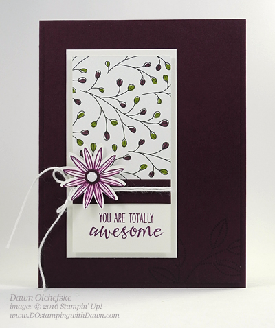 Grateful Bunch meets Sale-a-Bration Wildflower Fields DSP card created by Dawn Olchefske #dostamping #stampinup
