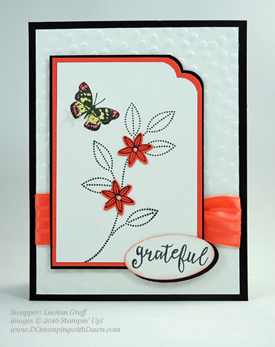 Grateful Bunch Bundle swap card shared by Dawn Olchefske #dostamping #stampinup (LeeAnn Greff)