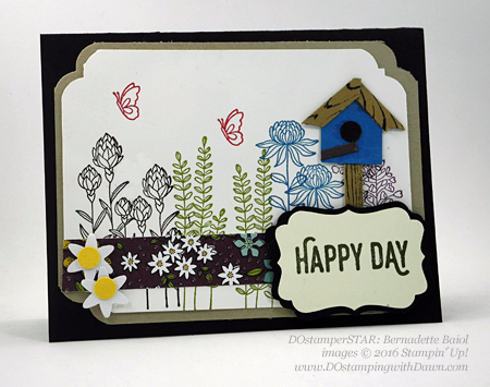 Sale-a-Bration Flowering Fields swap cards shared by Dawn Olchefske #dostamping #stampinup (Bernadette Baio)