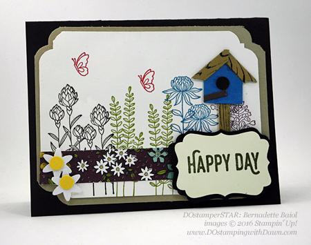 Sale-a-Bration Flowering Fields swap cards shared by Dawn Olchefske #dostamping #stampinup (Bernadette Baio)