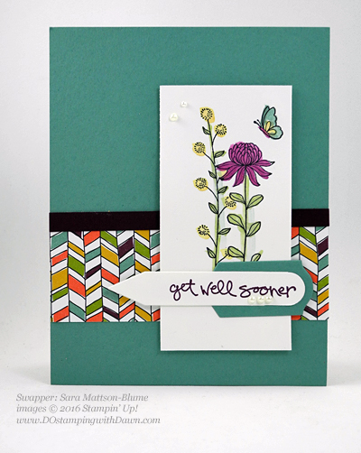 Sale-a-Bration Flowering Fields swap cards shared by Dawn Olchefske #dostamping #stampinup (Sara Mattson-Blume)