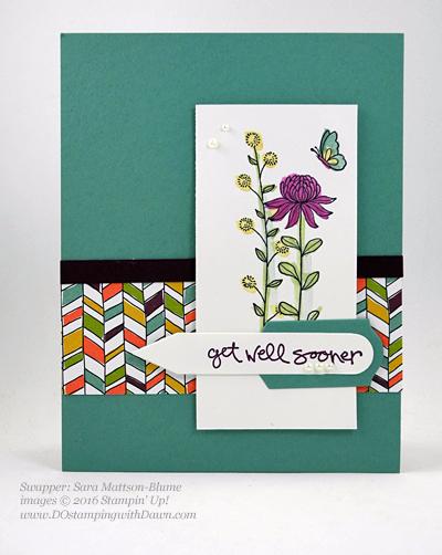 Sale-a-Bration Flowering Fields swap cards shared by Dawn Olchefske #dostamping #stampinup (Sara Mattson-Blume)