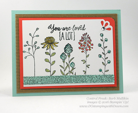 Sale-a-Bration Flowering Fields swap cards shared by Dawn Olchefske #dostamping #stampinup (Barb Mullikin)
