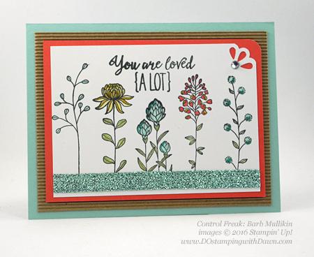 Sale-a-Bration Flowering Fields swap cards shared by Dawn Olchefske #dostamping #stampinup (Barb Mullikin)