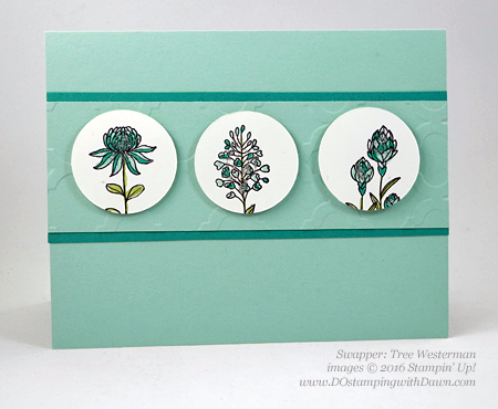 Sale-a-Bration Flowering Fields swap cards shared by Dawn Olchefske #dostamping #stampinup (Tree Westerman)