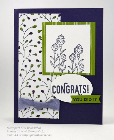 Sale-a-Bration Flowering Fields swap cards shared by Dawn Olchefske #dostamping #stampinup (Kim Bolzenthal)