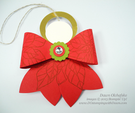 Gift Bow Die Angel shared by Dawn Olchefske #dostamping #stampinup