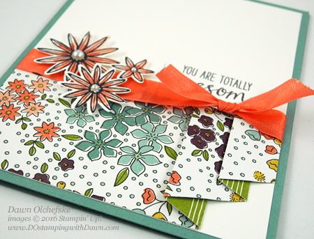 Grateful Bunch Bundle & Wildflower Fields Designer Series Paper card created by Dawn Olchefske for Control Freak Blog Tour #dostamping #stampinup