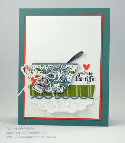 A Nice Cuppa Bundle with Wildflower Fields Designer Series Paper card created by Dawn Olchefske for Control Freak Blog Tour #dostamping #stampinup