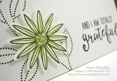 White Perfect Accents 3/22/2016 Weekly Deal, Grateful Bunch card created by Dawn Olchefske #dostamping #stampinup