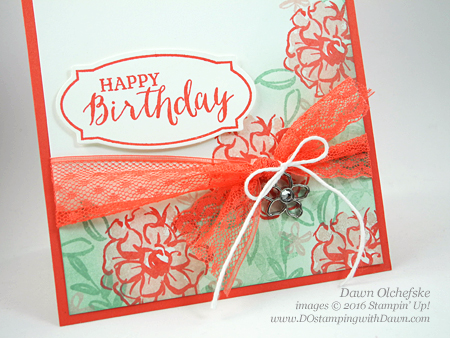 Sale-a-Bration What I Love card created by Dawn Olchefske for DOstamperSTARS Thursday Challenge #DSC174 #dostamping #stampinup