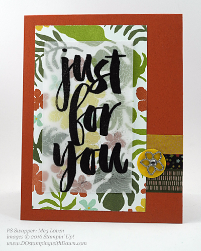 Sale-a-Bration Botanicals For You stamp set swap cards shared by Dawn Olchefske #dostamping #stampinup (Meg Loven)
