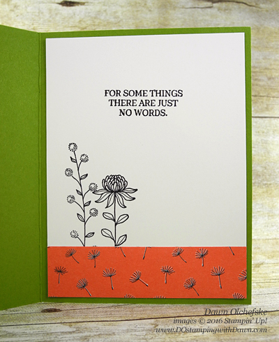 Flowering Fields Misted Block Technique card created by Dawn Olchefske for DOstamperSTARS Thursday Challenge #DSC175 #dostamping #stampinup