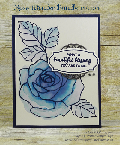 Rose Wonder In Blue card created by Dawn Olchefske for DOstamperSTARS Thursday Challenge #DSC176 #dostamping #stampinup
