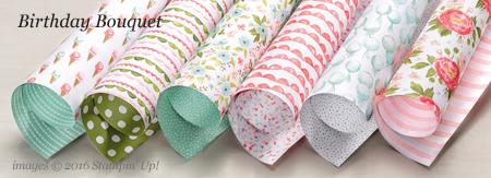 Birthday Bouquet Designer Series Paper #dostamping #stampinup
