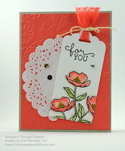 Birthday Blooms swap cards shared by Dawn Olchefske #dostamping #stampinup (Georgia Giguere)