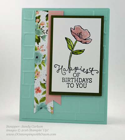 Birthday Blooms swap cards shared by Dawn Olchefske #dostamping #stampinup (Sandy Calrson)