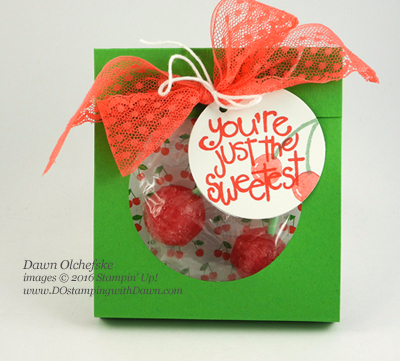 Cherry Lollies Treat Pouch created by Dawn Olchefske #dostamping #stampinup