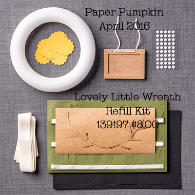 Lovely Little Wreath Paper Pumpkin Refill Kit #dostamping #stampinup